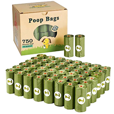 Yingdelai Dog Poo Bags Biodegradable 750 Counts, Large and Thick Eco Friendly D