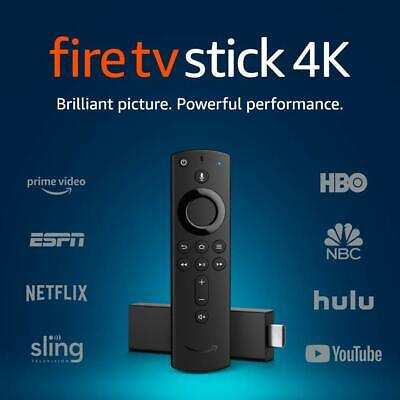 Amazon Fire TV Stick 4K with 2nd Gen 2019 Alexa VOICE Enabled Remote NEW SEALED