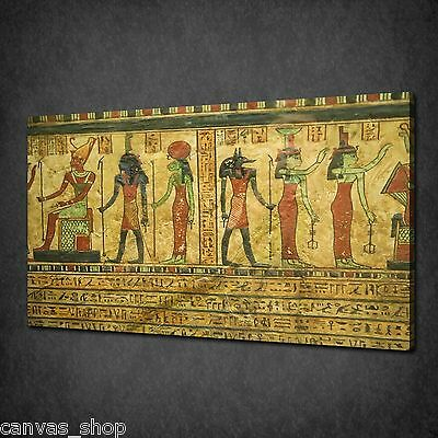 Old Ancient Egyptian Papyrus Modern Wall Art Canvas Print Picture Ready To Hang