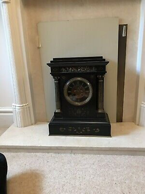 Classical Marble Clock With Visble Escapement