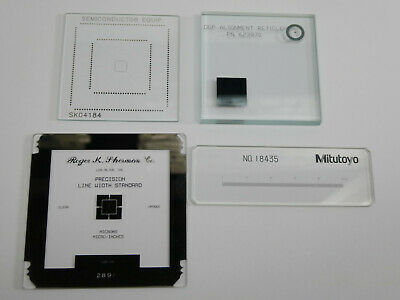 4pcs in Lot MITUTOYO_OGP Optical Comparator Calibration Reticle Pattern