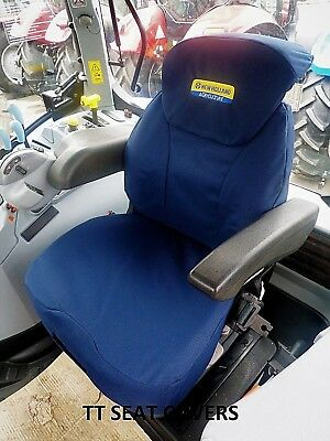 new holland  /cnh,t6000/t7000/t6/t7/tsa grammer seat cover / navy with logo