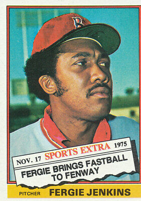 1976 Topps Traded Fergie Jenkins #250T Boston Red Sox baseball card