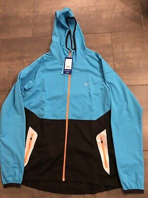 MIZUNO BREATH THERMO Hoody In Caribbean Sea Blue Size