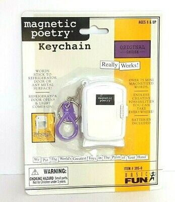 Original Edition Magnetic Poetry Keychain Mini Refrigerator Magnets NEW NIP