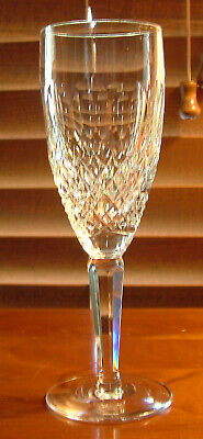 "Waterford Crystal ""colleen"" (Tall Stem) Fluted Champagne Glasses / Mint Conditon"