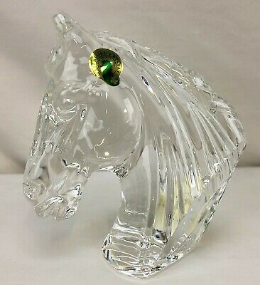 Waterford Crystal HORSE HEAD Sculpture Figurine Paperweight NEW