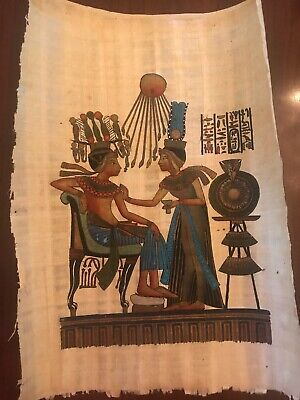 """Egyptian Papyrus Hand Painted Made in Egypt 10'' X 9"""""""