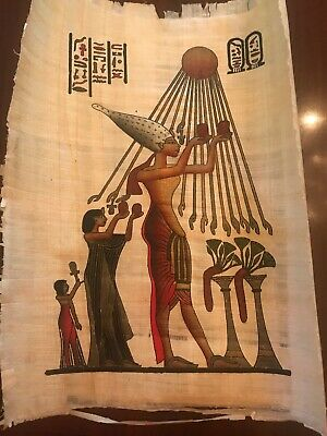 """Egyptian Papyrus Hand Painted Made in Egypt 10X9"""""""