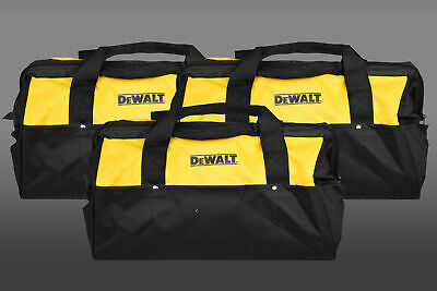 Dewalt Heavy Duty Tool Bag for power tools 18inch Bag yellow and black 3 Pack
