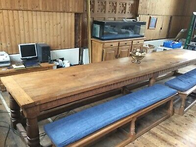 large antique oak refectory table