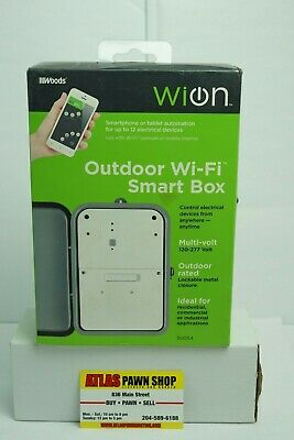 WiOn 50054 Outdoor Wi-Fi Smart Box, Wireless Time Switch