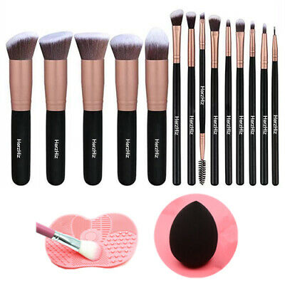 16 pcs Kabuki Make up Brushes Set Eye shadow Blusher Face Powder Foundation