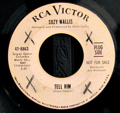 Suzy Wallis~Tell Him/A Time For Us~1966 Northern Soul Promo 45~Hear Both!