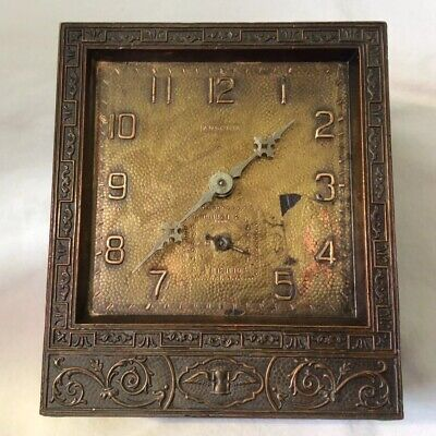 Antique Ansonia Small Metal Case Clock With Alarm