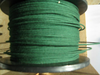 1920's Emerald Green Radio loop antenna wire, DeForest and more. 20AWG 80ft