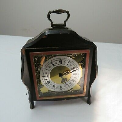 Jerger Clock Vintage Brass And Wooden Clock Germany