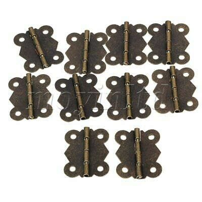 4cm Antique Butterfly Hinges Set of 10 Bronze