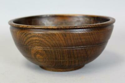 Rare Late 17Th C Pilgrim Turned And Hand Hewn Wooden Bowl In American White Ash