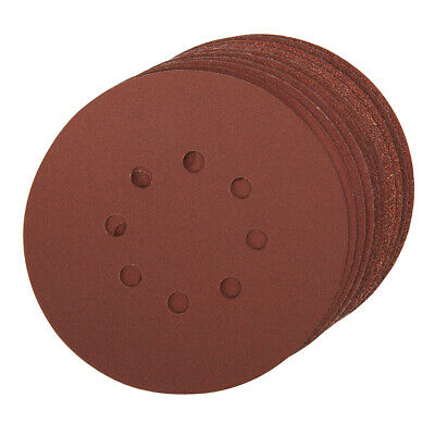 10 PACK-150mm Mixed Grits Sanding Sheet Discs-Punched Aluminium Oxide Hook Loop