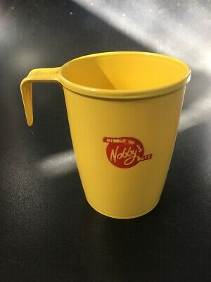 VINTAGE Nobby's Nuts Promotional Cup - Yellow Plastic