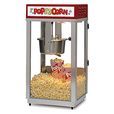 Superpop Deluxe 8oz Popcorn Machine With Light Up Sign