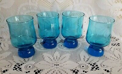 Crown Corning Blue Drinking - Wine Glasses