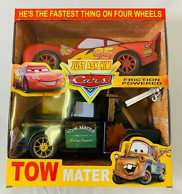 Cars Friction Powered Tow Mater and Lightning McQueen