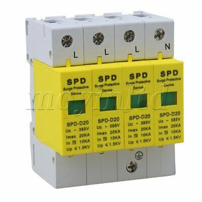 Din Rail Surge Protection Device SPD Lightning Arrester White+Yellow