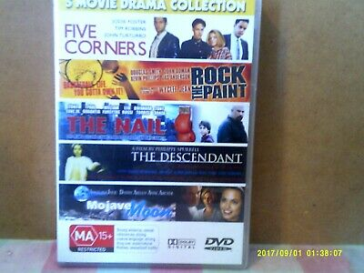 5 Movie Drama Collection - Used Region 0/All Dvd (2 Disc Set) Rare