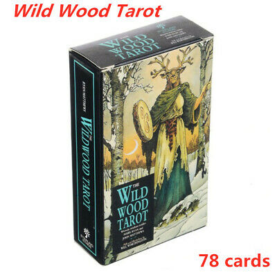 HOT 78Pcs/Set Cards Wild Wood Tarot Cards Beginner Deck Vintage Fortune Telling