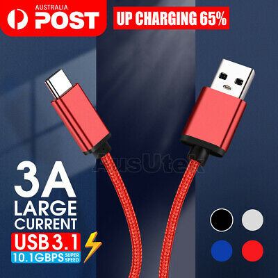 Heavy Duty Fast USB C 3.1 Type-C Data Sync Charger Cable Samsung A20 A30 A50 A70