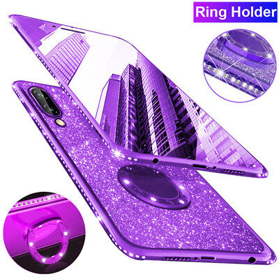 Slim Glitter Diamond TPU Case for Samsung Galaxy Note 10+ A80 Ring Stand Cover