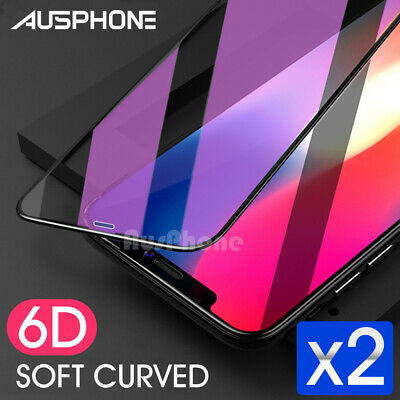2x 6D Full Cover Apple iPhone 8 Plus 7 Plus 6s 6 Screen Protector Tempered Glass