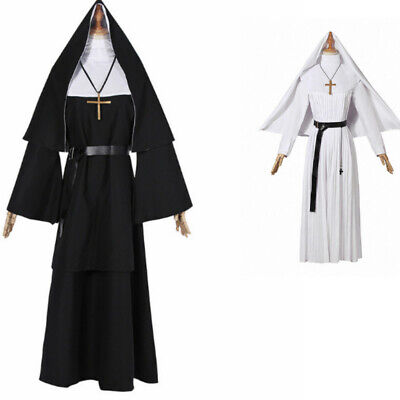 Halloween The Conjuring Scary The Nun Valak Sister Irene Dress Cosplay Costume
