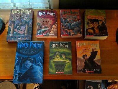 HARRY POTTER Books by J. K. ROWLING, Complete Set, Years 1-7