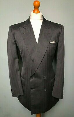 Vintage bespoke double breasted Savile Row suit size 40 42 long