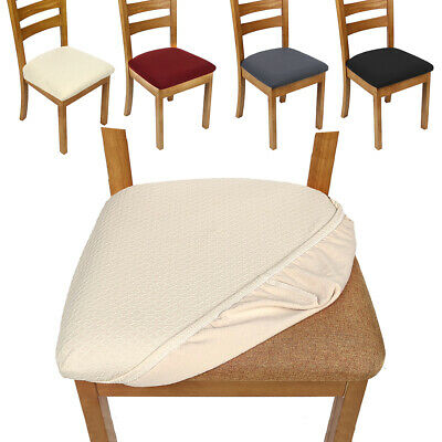 1/4Pcs Square Removable Elastic Stretch Slipcover Home Dining Chair Seat Cover