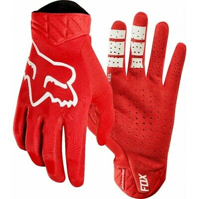 Fox Airline Motocross Offroad MX Enduro Race Gloves Red Adults