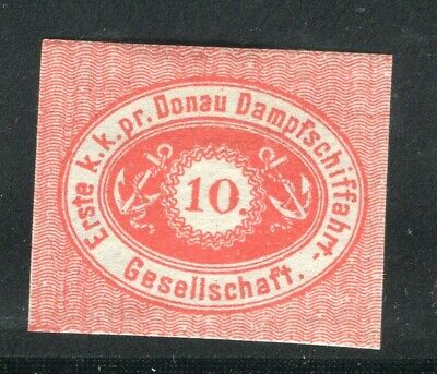 AUSTRIA; 1870s early classic Danube Steamer Posts issue Mint hinged 10g. value