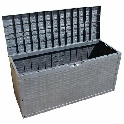320L Large Outdoor Patio Garden Plastic Storage Box Container Chest on Wheels