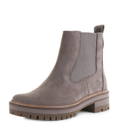 WOMENS TIMBERLAND COURMAYEUR Valley CH Taupe Nubuck Leather Ankle Boots Size