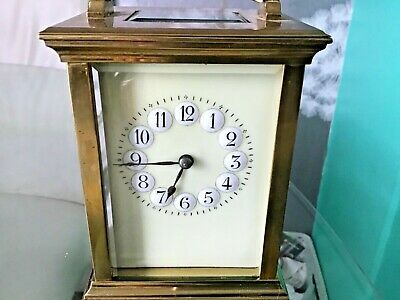 Lovely carriage clock raised numbers dials