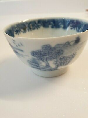 Delightful Antique Tea bowl blue and white porcelain Chinese Japanese ? export