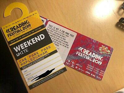 Reading Festival Ticket 2019 WHITE WEEKEND CAR PARK PASS
