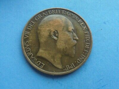 Edward VII, 1910 Halfpenny, Good Condition.
