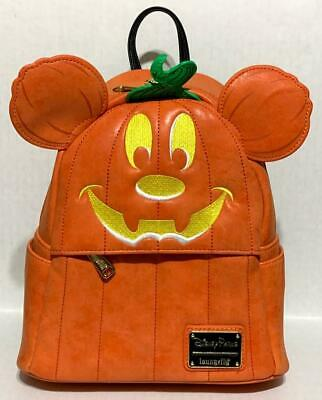 NEW Disney Parks Halloween Mickey Mouse Pumpkin Backpack Loungefly Purse