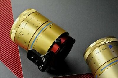 Isco Optic Cinemascope Anamorphic lens redstan front back clamps