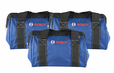 """Bosch 13"""" Tool Bag featuring a wide mouth zipper opening  3 Pack"""