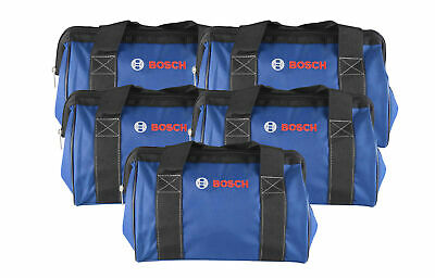 """Bosch 13"""" Tool Bag featuring a wide mouth zipper opening  5 Pack"""